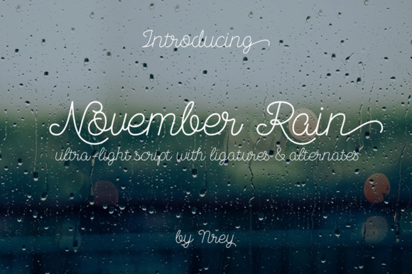 Print on Demand: November Rain Script & Handwritten Font By NREY - Image 1