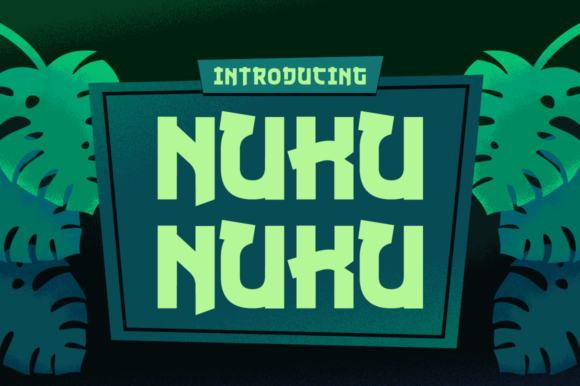 Print on Demand: Nuku Nuku Display Font By Creative Fabrica Freebies