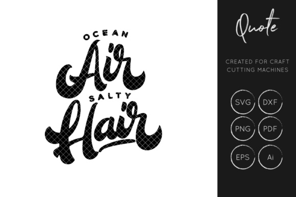 Download Free Ocean Hair Cut File Graphic By Illuztrate Creative Fabrica for Cricut Explore, Silhouette and other cutting machines.