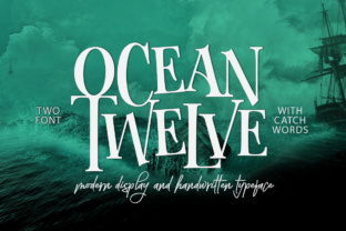 Print on Demand: Ocean Twelve Display Font By joelmaker