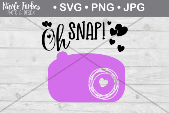 Download Free Oh Snap Camera Svg Cut File Graphic By Nicole Forbes Designs for Cricut Explore, Silhouette and other cutting machines.