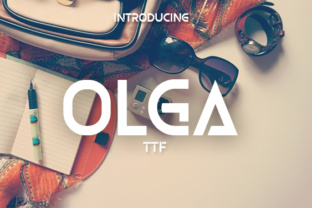 Olga Display Font By vladimirnikolic