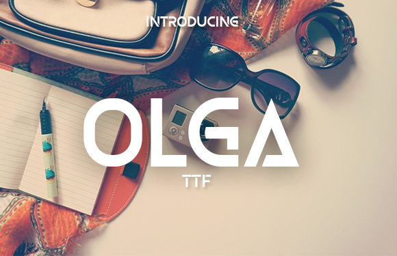 Print on Demand: Olga Display Font By vladimirnikolic