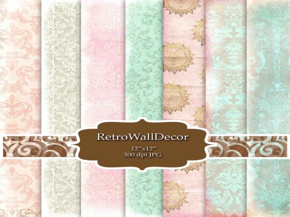 Print on Demand: Ornaments Background Graphic Backgrounds By retrowalldecor