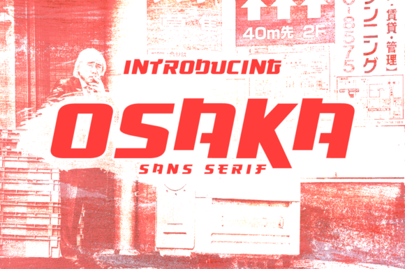 Print on Demand: Osaka Display Font By Creative Fabrica Freebies