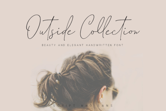 Print on Demand: Outside Collection Script & Handwritten Font By Aqr Typeface