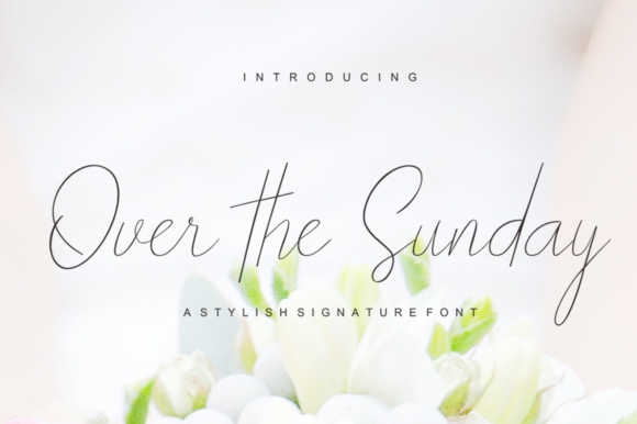 Print on Demand: Over the Sunday Script & Handwritten Font By joelpopon
