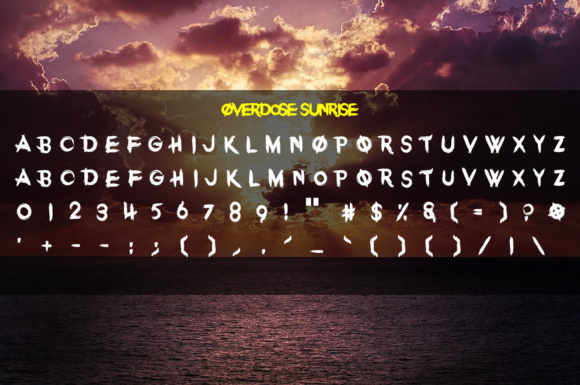 Print on Demand: Overdose Sunrise Display Font By Chequered Ink - Image 2
