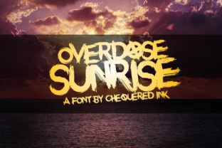 Print on Demand: Overdose Sunrise Display Font By Chequered Ink