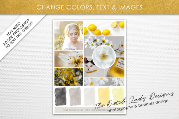 Psd Mood Vision Board Template Graphic By Daphnepopuliers