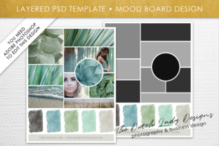 Print on Demand: Mood & Vision Board Template Graphic Presentation Templates By daphnepopuliers