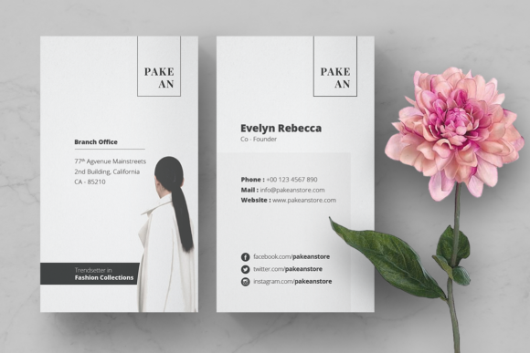 Print on Demand: Pakean Business Card & Post Card Graphic Print Templates By onedsgn - Image 2
