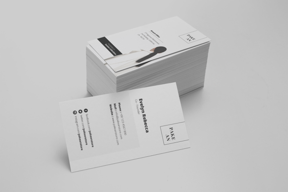 Print on Demand: Pakean Business Card & Post Card Graphic Print Templates By onedsgn - Image 1