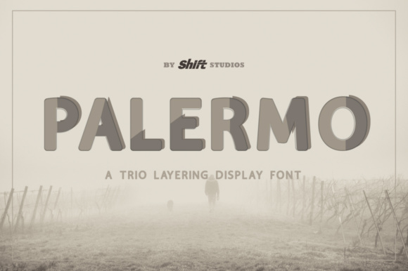 Print on Demand: Palermo Display Font By ShiftStudios