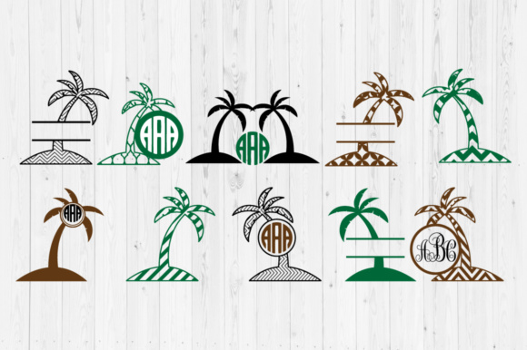 Download Free Palm Tree Cut Files Graphic By Cutperfectstudio Creative Fabrica for Cricut Explore, Silhouette and other cutting machines.