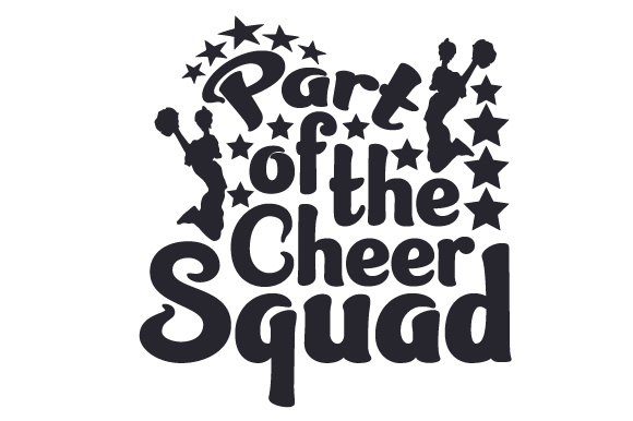 Download Free Part Of The Cheer Squad Svg Cut File By Creative Fabrica Crafts for Cricut Explore, Silhouette and other cutting machines.