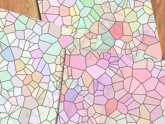 Pastel Color Palette Mosaic Digital Papers Graphic Backgrounds By GreenLightIdeas - Image 4