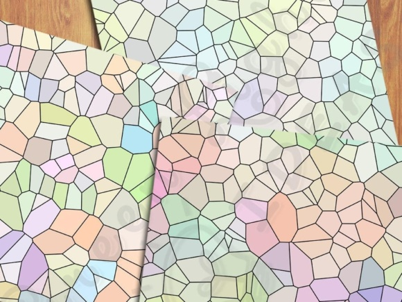 Pastel Color Palette Mosaic Digital Papers Graphic Backgrounds By GreenLightIdeas - Image 5