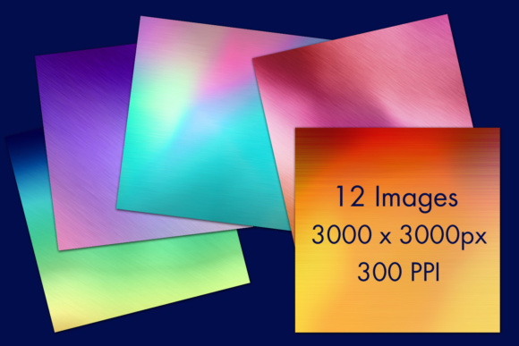 Print on Demand: Pastel Rainbow 2 - Brushed Metal Style Backgrounds - 12 Image Set Graphic Backgrounds By SapphireXDesigns - Image 2