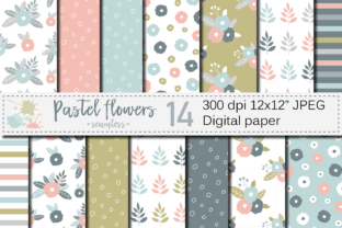 Pastel Flowers Seamless Pattern Graphic Patterns By VR Digital Design