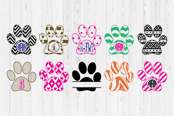 Download Free Paw Print Cut Files Graphic By Cutperfectstudio Creative Fabrica for Cricut Explore, Silhouette and other cutting machines.