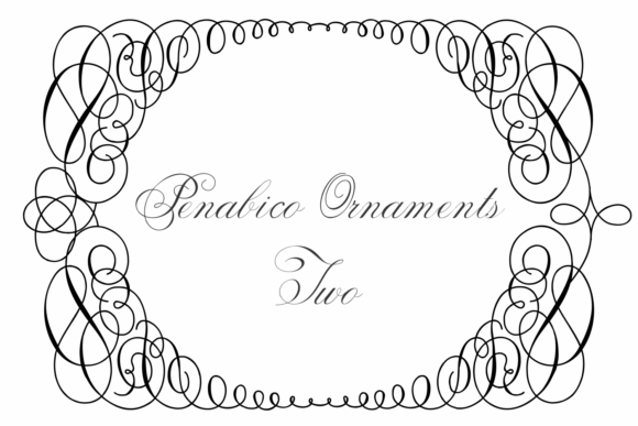 Print on Demand: Penabico Ornaments Two Dingbats Font By Intellecta Design - Image 2