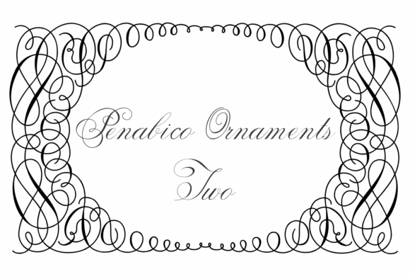 Print on Demand: Penabico Ornaments Two Dingbats Font By Intellecta Design