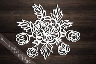 Peonies Svg, Cutting Template, Peony Papercutting, Hand Cutting Templates, Flowers, Rose Svg File, Peonies Bouquet, Laser Cut, Dxf Pdf Png Graphic By Cornelia
