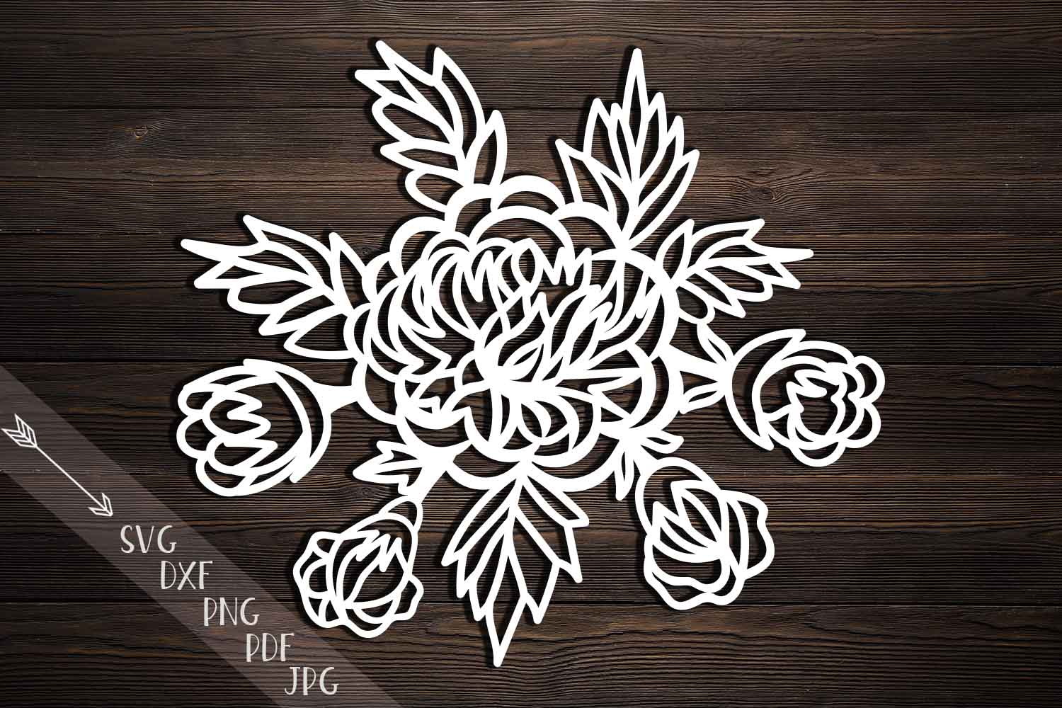 Download Free Peonies Cutting Template Peony Papercutting Hand Cutting for Cricut Explore, Silhouette and other cutting machines.