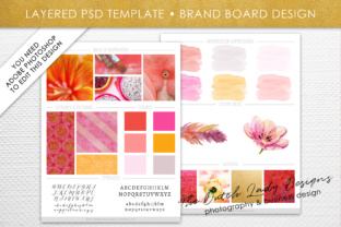 Print on Demand: Photoshop Brand Board Template Graphic Presentation Templates By daphnepopuliers