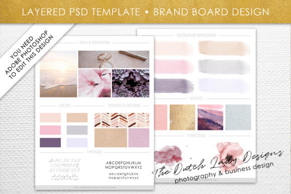 Download Free Photoshop Brand Board Template Grafico Por Daphnepopuliers for Cricut Explore, Silhouette and other cutting machines.