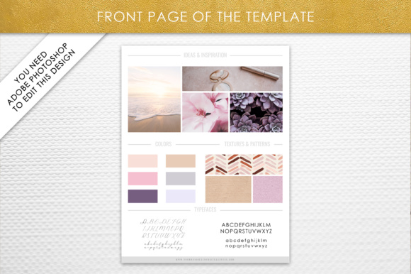 Photoshop Brand Board Template Graphic By daphnepopuliers Image 2