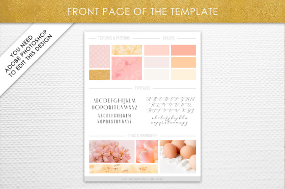 Print on Demand: Photoshop Brand Board Template Graphic Presentation Templates By daphnepopuliers - Image 2