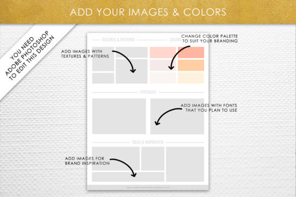 Print on Demand: Photoshop Brand Board Template Graphic Presentation Templates By daphnepopuliers - Image 4