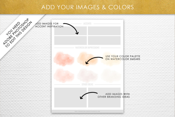 Print on Demand: Photoshop Brand Board Template Graphic Presentation Templates By daphnepopuliers - Image 5