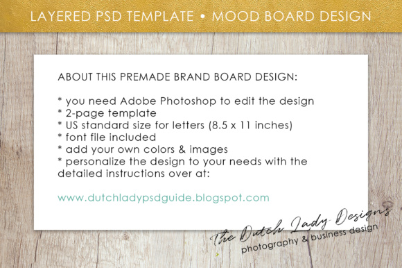 Print on Demand: Photoshop Brand Board Template Graphic Presentation Templates By daphnepopuliers - Image 6