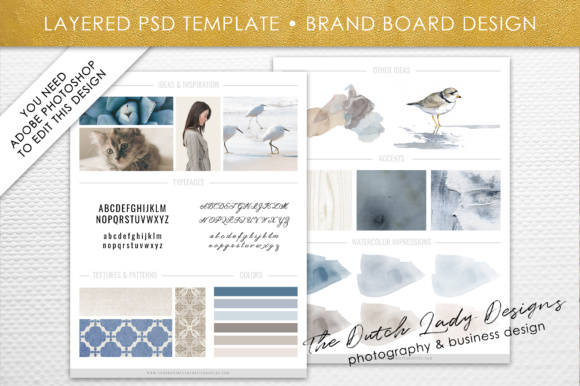 Photoshop Brand Board Template Graphic By daphnepopuliers Image 1