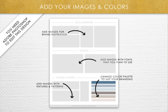 Photoshop Brand Board Template Graphic By daphnepopuliers Image 4