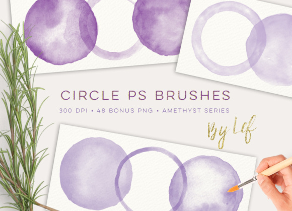 Download Free Photoshop Brushes Circles And 48 Bonus Files Graphic By By Lef for Cricut Explore, Silhouette and other cutting machines.