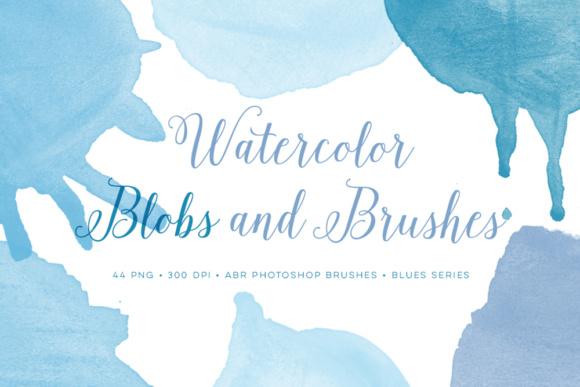 Photoshop Brushes Watercolor and Bonus Blue PNG Files Graphic Brushes By By Lef