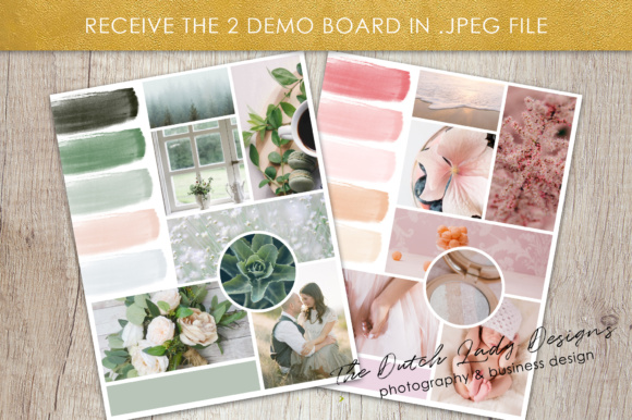 Print on Demand: Photoshop Mood Board Template Graphic Presentation Templates By daphnepopuliers - Image 5