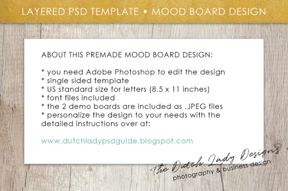 Print on Demand: Photoshop Mood Board Template Graphic Presentation Templates By daphnepopuliers - Image 6