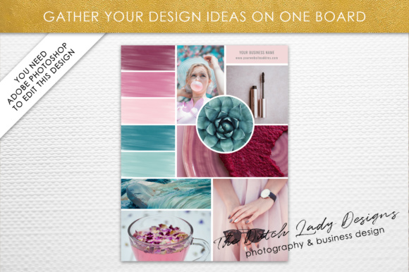 Print on Demand: Photoshop Mood Board Template Graphic Presentation Templates By daphnepopuliers - Image 2
