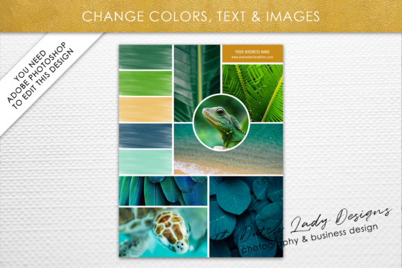 Print on Demand: Photoshop Mood Board Template Graphic Presentation Templates By daphnepopuliers - Image 4