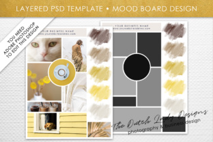 Photoshop Mood Board Template Graphic By daphnepopuliers