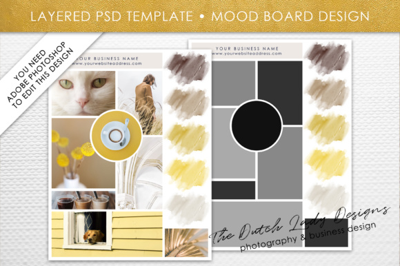 Photoshop Mood Board Template Graphic By daphnepopuliers Image 1