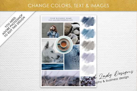 Photoshop Mood Board Template Graphic By daphnepopuliers Image 4
