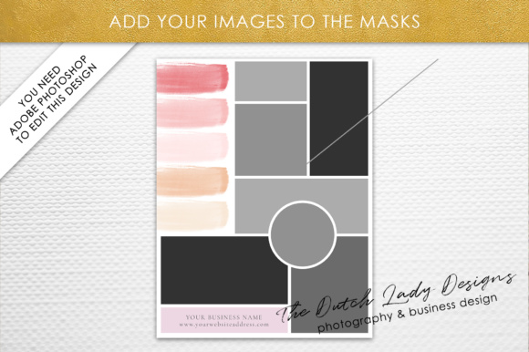 Print on Demand: Photoshop Mood Board Template Graphic Presentation Templates By daphnepopuliers - Image 3