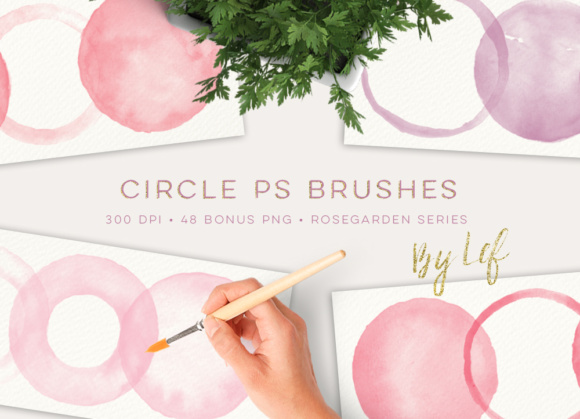 Photoshop Brushes Round Circles with Bonus Pink and Lilac Clip Art Graphic Brushes By By Lef