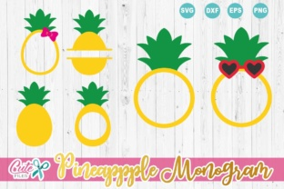 Download Free Pineapple Monogram Graphic By Cute Files Creative Fabrica for Cricut Explore, Silhouette and other cutting machines.